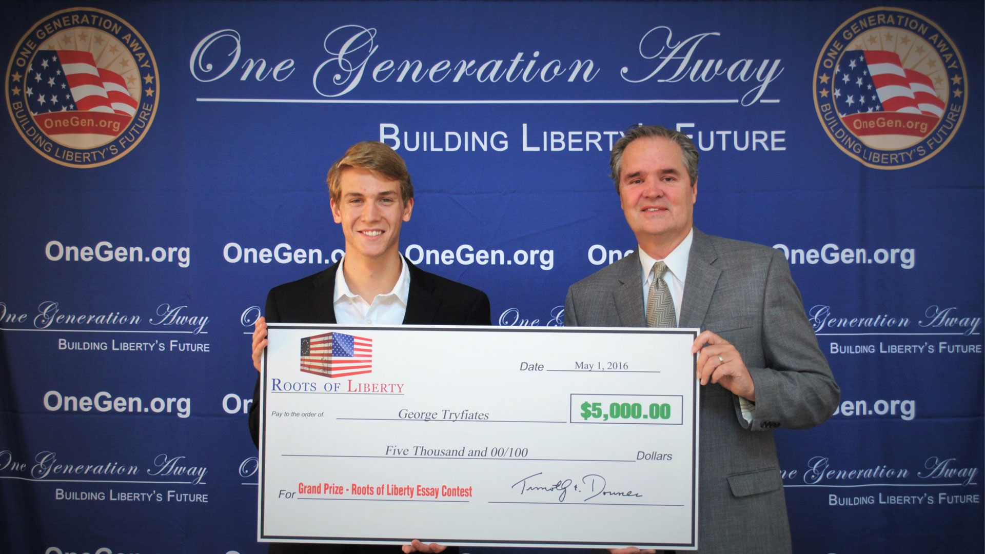 liberty essay one generation away on liberty statue of liberty essay one generation away roots of liberty essay contest winner george tryfiates receives prize on d c trip